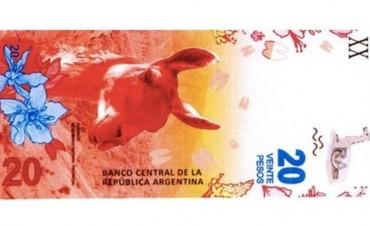 Desde hoy comienzan a circular los nuevos billetes de 20 pesos