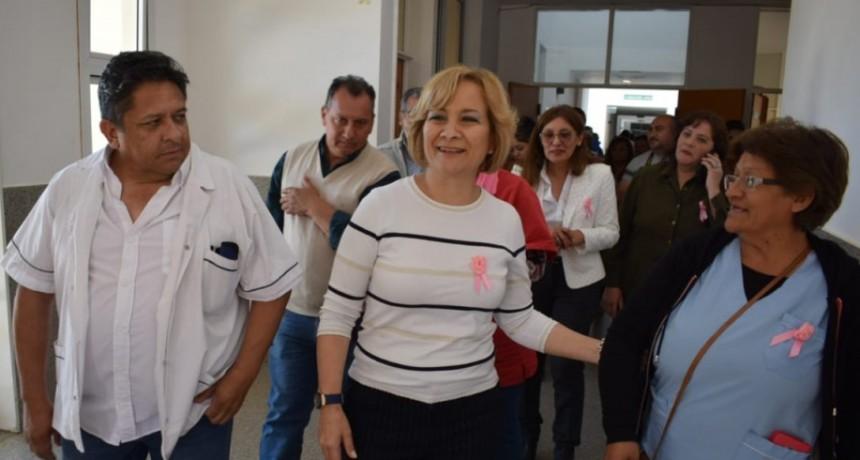Díaz Bazán visitó los hospitales del Sur de la provincia
