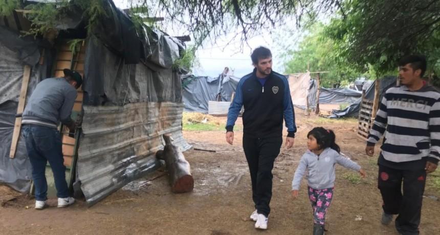 Desarrollo Social asistió a barrios y asentamientos por el temporal