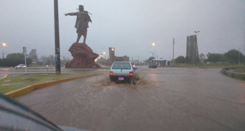 La lluvia acompañó el fin de semana largo a los riojanos