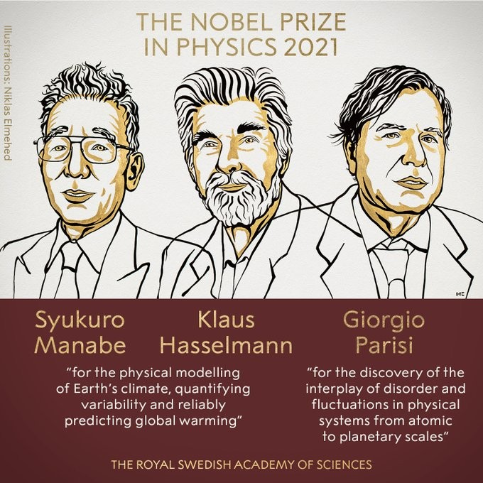 Nobel de Física a tres científicos por sus contribuciones a la comprensión y predicción de los sistemas complejos