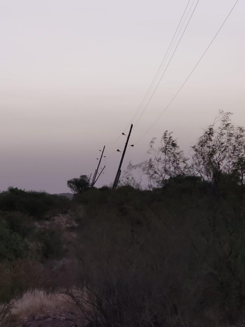 Los fuertes vientos afectaron de manera parcial el servicio eléctrico en Capital, Chilecito, Famatina y Felipe Varela