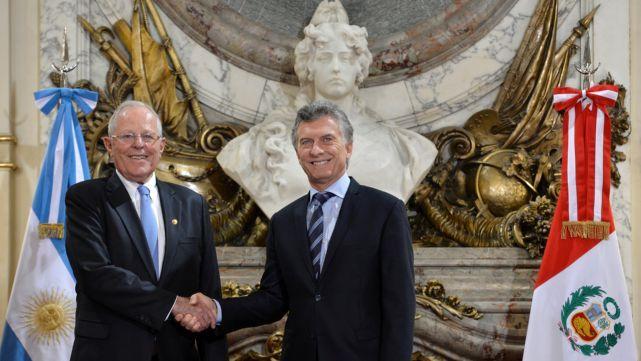 Macri se reunió con el presidente de Perú