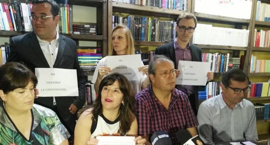 Para Cambiemos: El gobernador Casas debe decidir si va a violar o no la Constitución